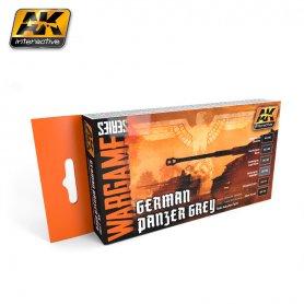 AK Interactive AK-1160 WARGAMES GERMAN PANZER GREY SET