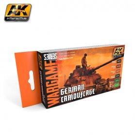 AK Interactive AK-1167 WARGAMES GERMAN CAMOUFLAGE SET