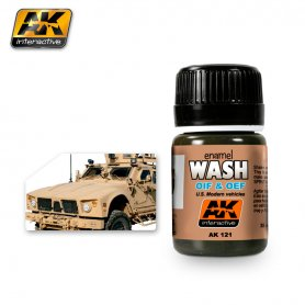 AK Interactive AK-121 OIF & OEF - US VEHICLES WASH