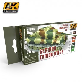 AK Interactive AK-167 GERMAN GREEN AND BROWN Modulation Set