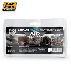 AK Interactive AK-2037 Exhaust Stains Weathering Set