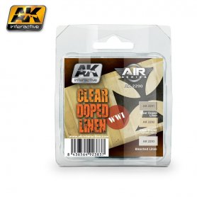 AK Interactive AK-22 Clear Doped Linen Set