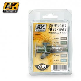 AK Interactive AK-2320 Luftwaffe PreWar Camouflage Colors Set