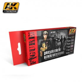 AK Interactive AK-3001 PANZER CREW BLACK UNIFORMS SET