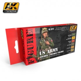 AK Interactive US Army Soldiers Uniform Colors Set