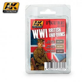 AK Interactive WWI British Uniforms Colors Set