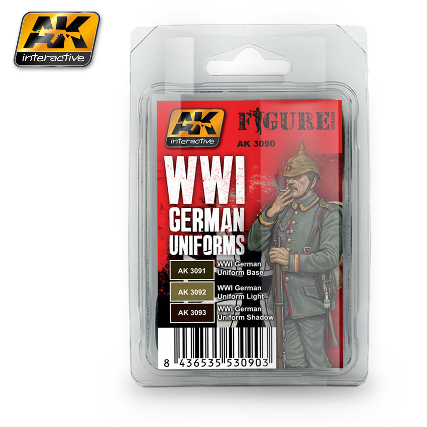 AK Interactive AK-3090 Set FIGURE SERIES / WWI GERMAN UNIFORM COLORS -  Sklep Modelarski Agtom