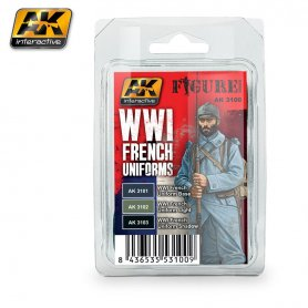 AK Interactive WWI French Uniforms Colors Set