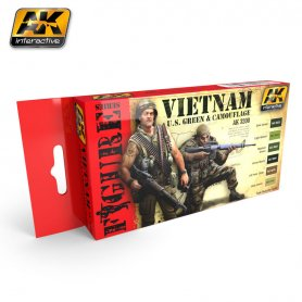 AK Interactive Vietnam U.S. Green & Camo Colors Set