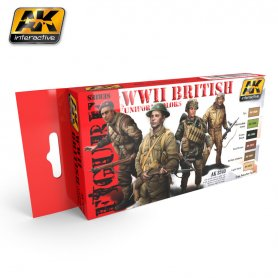 AK Interactive WWII British Uniform Colors Set
