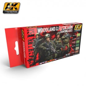 AK Interactive AK-3250 ZESTAW Figure Series / Woodland and Flecktarn Uniform Colors