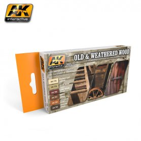 AK Interactive Old and Weathered Wood Color Set vol.1