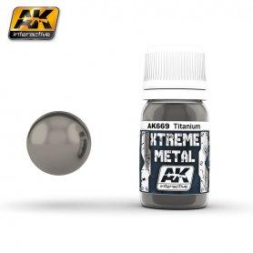 AK Interactive AK-669 XTREME Metal Titanium / 30ml