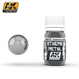 AK Interactive XTREME Metal Stainless Steel