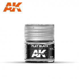 AK Real Colors Flat Black 10ml