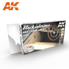 AK Interactive Black and Cream White Interiors Set