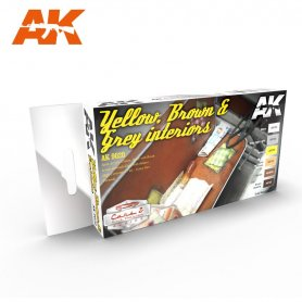 AK Interactive Yellow, Brown & Grey Interiors Color Set