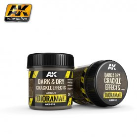 AK Interactive Dark&Dry Crackle Effects - 100ml (Acryli