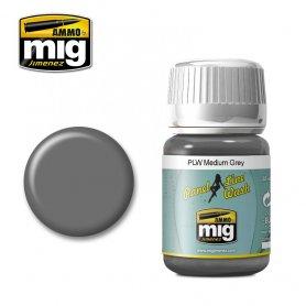 Ammo of Mig Panel Line Wash Medium Gray