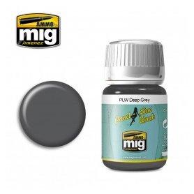 Ammo of Mig Panel Line Wash Deep Gray