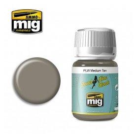 Ammo of Mig PANEL LINE WASH Medium Tan / 35ml