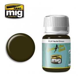 Ammo of Mig Panel Line Wash Neutral Brown