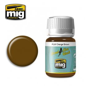 Ammo of Mig PANEL LINE WASH Orange Brown / 35ml