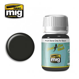 Ammo of Mig PANEL LINE WASH Stone Grey for Black / 35ml