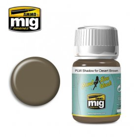 Ammo of Mig PANEL LINE WASH Shadow for Desert Brown / 35ml