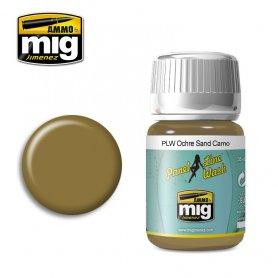 Ammo of Mig PANEL LINE WASH Ochre for Sand Camo / 35ml