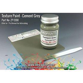 Zero Paints 1390 Farba teksturowa CEMENT GREY TEXTURED PAINT - 60ml