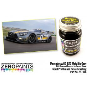 ZERO PAINTS 1466 Mercedes AMG GT3 Metallic Grey M