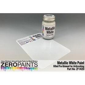 ZERO PAINTS 1420 - Metallic White Paint 60ml