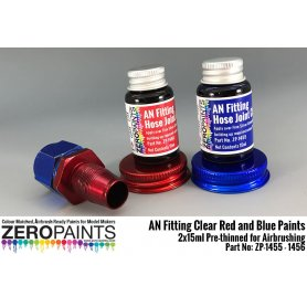 Zero Paints 1455 Hose Joints/Ends Clear Red and Blue / 2x15ml