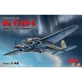 ICM 48262 He 111H-6 WWII German Bomber