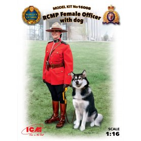 ICM 16008 RCMP Female Officer with dog