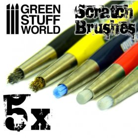 Green Stuff World SCRATCH BRUSH SET / 5szt.