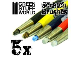 Green Stuff World SCRATCH BRUSH SET / 5szt.