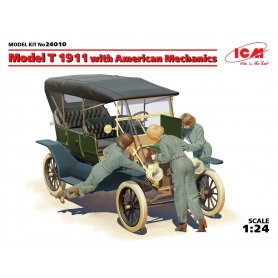 ICM 1:24 Model T 1911 Touring WITH AMERICAN MECHANICS