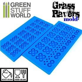 Green Stuff World Grass paver Silicone Stamp