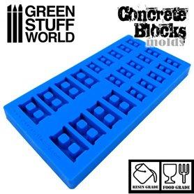 Green Stuff World Concrete Block Silicone Stamp