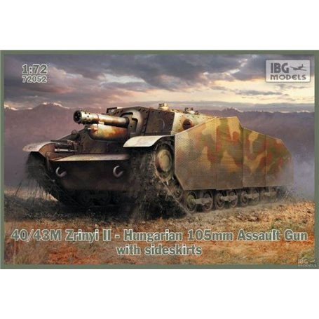 IBG 72052 0/43M Zrinyi II - 105mm Gun w/sideskirts
