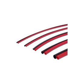 Rurka termokurczliwa 3,0mm (0,5m czerwony + 0,5m czarny)