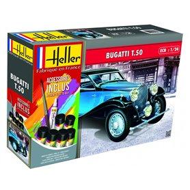 Heller 56706 Starter Set - Bugatti T.50 1:24