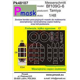 Pmask Pk48107 Maski do kabin Me-109G-6 Tamiya