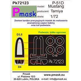 Pmask 1:72 Maski do North American P-51D Mustang dla Tamiya