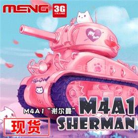 Meng WWP-002 World-War Toons M4A1 Sherman -Pink