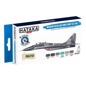Hataka BLUE-LINE Zestaw farb MODERN POLISH AIR FORCE / cz.1