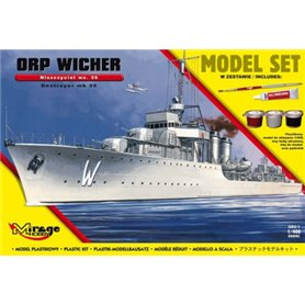 Mirage 1:400 ORP Wicher wz.35 - MODEL SET - z farbami