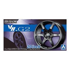 Aoshima 1:24 Wheel rims and tires VOLK RACING VR.G2 20INCH